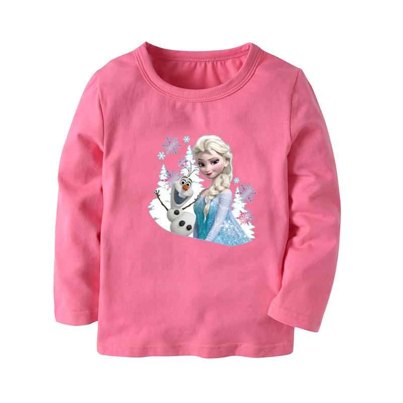 73aed053b58e Disney Frozen Elsa Tops for Girls Cotton Long Sleeve Sweatshirts Kids T  Shirts Girls Clothes Anna