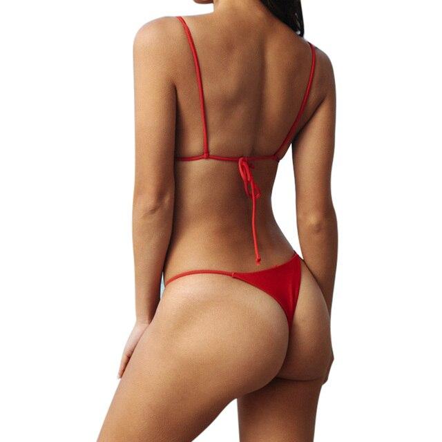 Sexy Brazilian Push Up Bikini Swimwear Women Micro Swimsuit B1565 2
