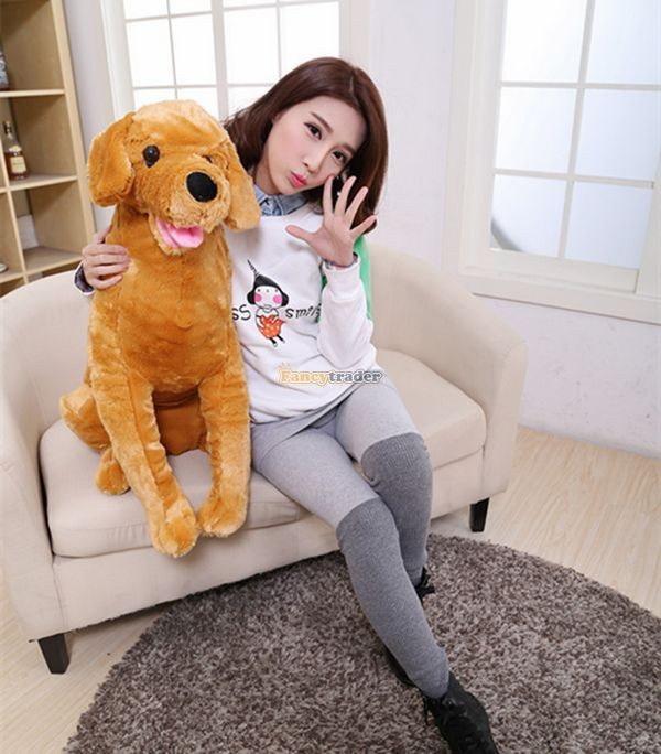 Fancytrader 37\'\' 95cm Lovely Soft Cute Plush Giant Emulational Brown Dog Toy, Free Shipping FT50191(13)
