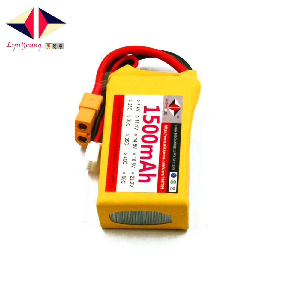 LYNYOUNG rc Lipo 3S battery 11.1V 25C 1500mAh for Helicopter Car Truck Drone 3pcs battery and european regulation charger with 1 cable 3 line for mjx b3 helicopter 7 4v 1800mah 25c aircraft parts
