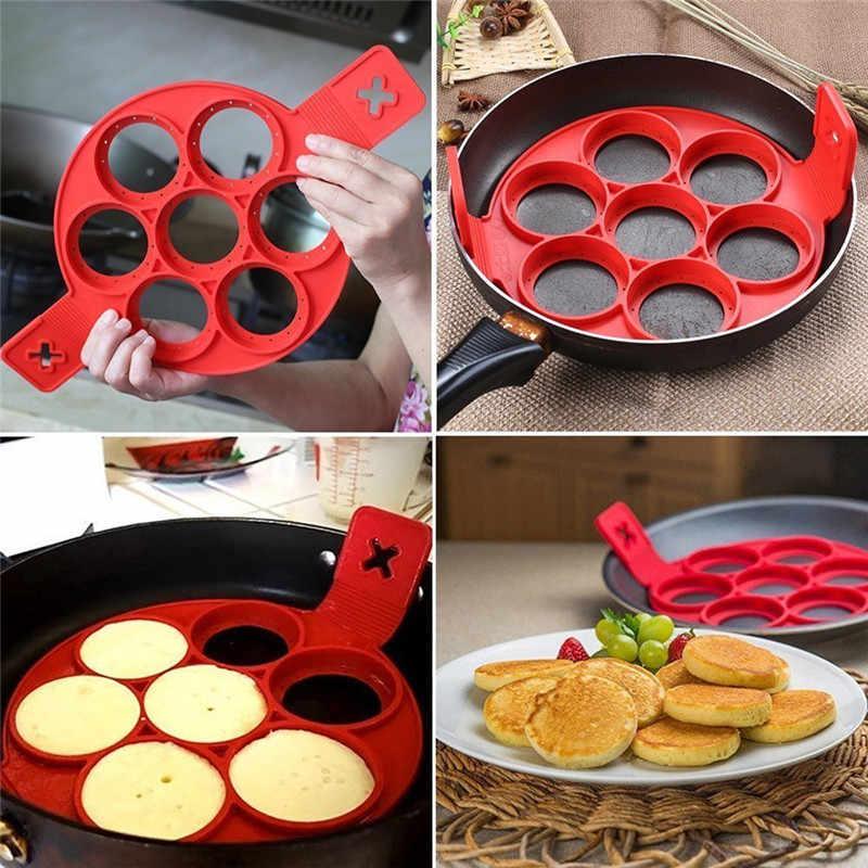 Non Stick Nonstick Nonstick Maker ไข่ไข่ครัวอาหารเช้าไข่ Omelette Flapjack เบเกอรี่เครื่องมือเครื่องแพนเค้ก