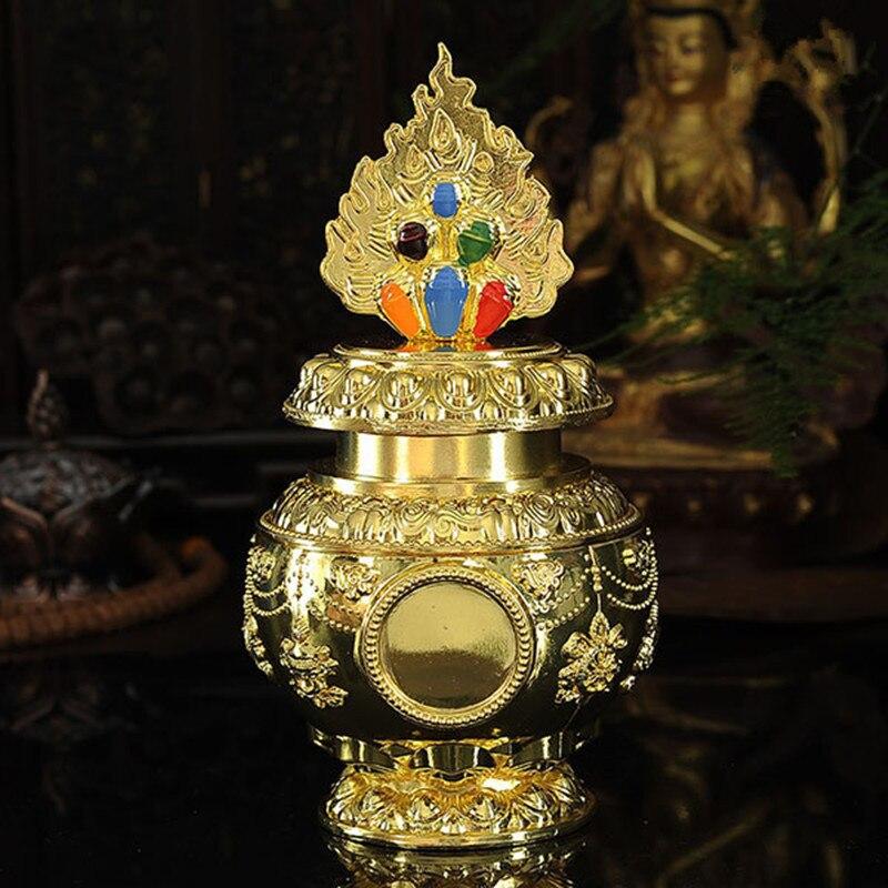 Suprimentos Budismo Tibetano Exquisite Liga De Ouro Banhado
