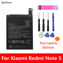Original BN45 Mobile Phone Battery For Xiaomi Redmi Note 5 Real Capacity 3900mAh Replacement Li-ion Battery + Tool qrxpower original bm37 replacement battery for xiaomi mi 5s plus real capacity 3800mah li ion phone battery tools sticker