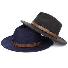 цены на Fashion Comfortable Women's Men Fedoras Hat Summer Spring Woolen Blend Cap Outdoor Gentleman Elegant Lady Trilby Cap Unisex  в интернет-магазинах