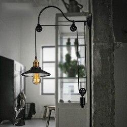 Loft stylu antyczne podnośników teleskopowych Edison kinkiet ścienny szkło lustro kinkiet ścienne w stylu Vintage oprawy oświetleniowe dla domu oświetlenie wall light fixture edison wall sconcewall sconce -