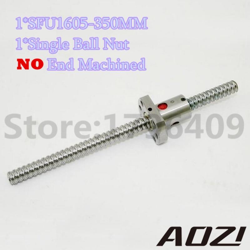 ФОТО New SFU1605 350mm Ball Screw Set : 1 pc Ball Screw RM1605 350mm+1pc SFU1605 Ball Nut CNC Part Free Shipping