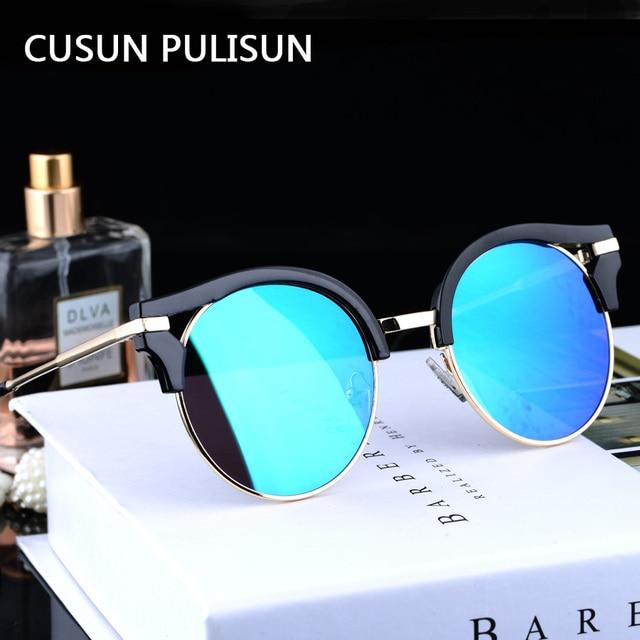 Moda gafas de Sol Polarizadas de Los Hombres gafas de Sol de Vacaciones mujeres Espejos Recubrimiento Puntos Aleación Marco Masculina Gafas Gafas de Sol UV400