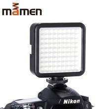 MAMEN светодиодный светильник W81 6000K мини светодиодный светильник для видеокамеры с регулируемой яркостью 81 светодиодный фотографический светильник для DSLR Canon Nikon Pentax
