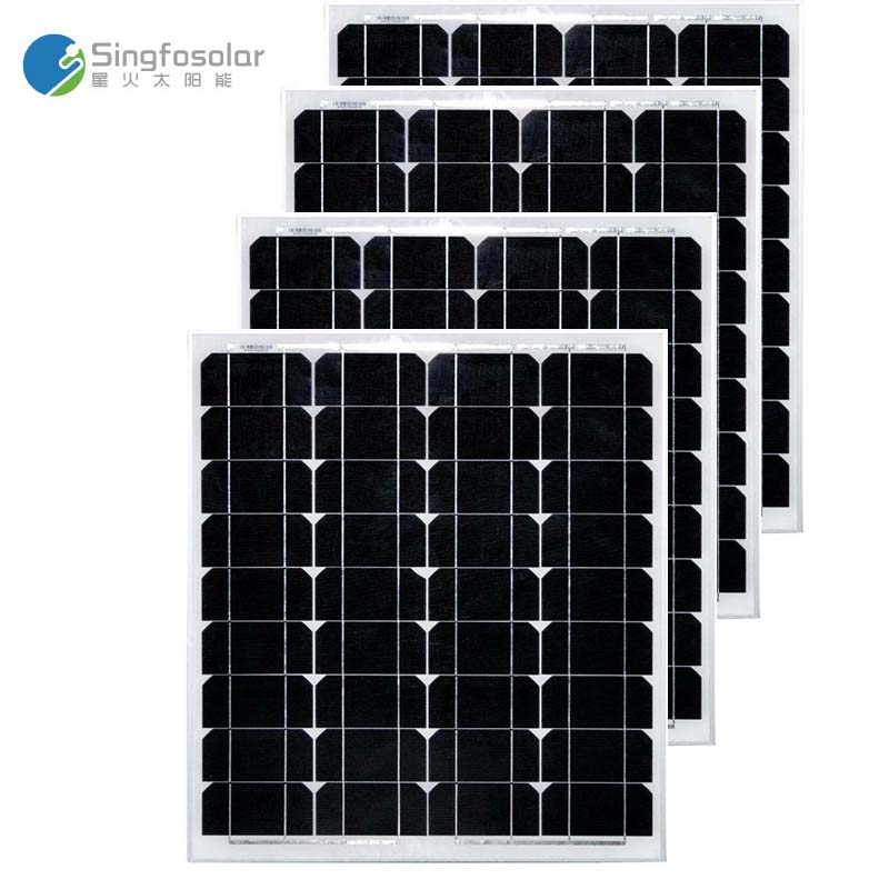 tuv ce solar panel 12v 50w panneau solaire solar charger battery solar home light system camping