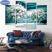 4pcs Full Square 5D DIY Diamond Painting Winter Teer Wall Picture Diamond Embroidery Cross Stitch Mosaic