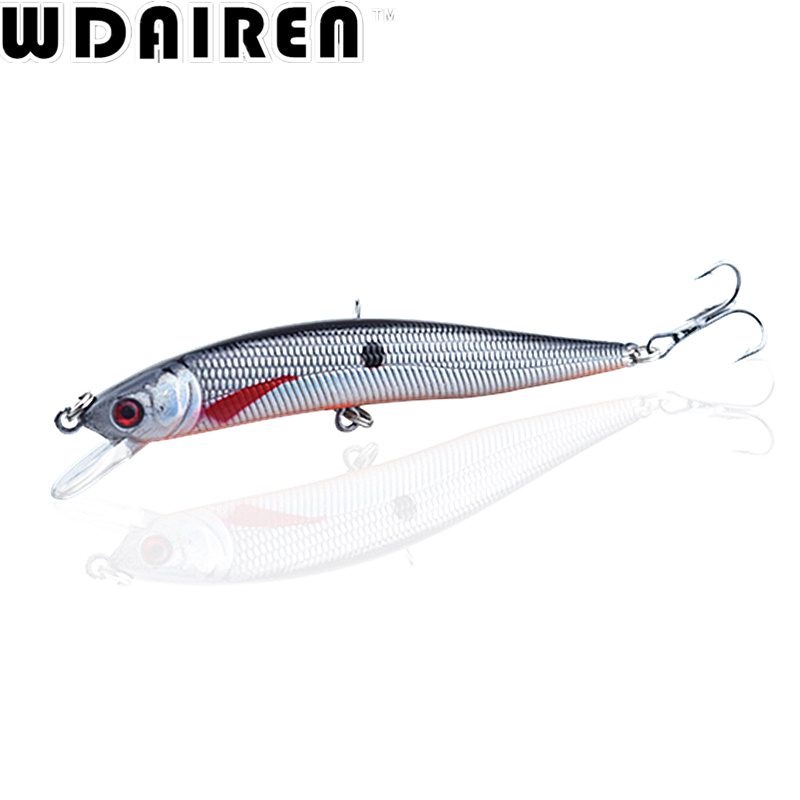 1PCS Laser Minnow Fishing Lure 10cm 8.5g pesca hooks fish wobbler tackle crankbait artificial japan hard bait swimbait NR-199 tsurinoya fishing lure minnow hard bait swimbait mini fish lures crankbait fishing tackle with 2 hook 42mm 3d eyes 10 colors set