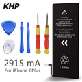 100% Original Brand KHP Phone Battery For iphone 6 Plus Real Capacity 2915mAh With Machine Tools Kit Mobile Batteries