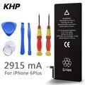 100% original de la marca khp batería del teléfono para iphone 6 plus real capacidad 2915 mah con máquinas herramientas kit de baterías móviles