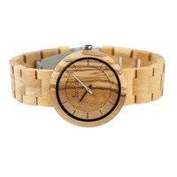 Redear New Brand Men Designer Watches Luxury Bamboo Wooden Quartz Sport Watch Wood Strap Military Wristwatches Relogio Masculino