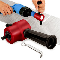 Double Head Nibble Metal Cutting Sheet Nibbler Saw Cutter Drill Attachment Nibbler