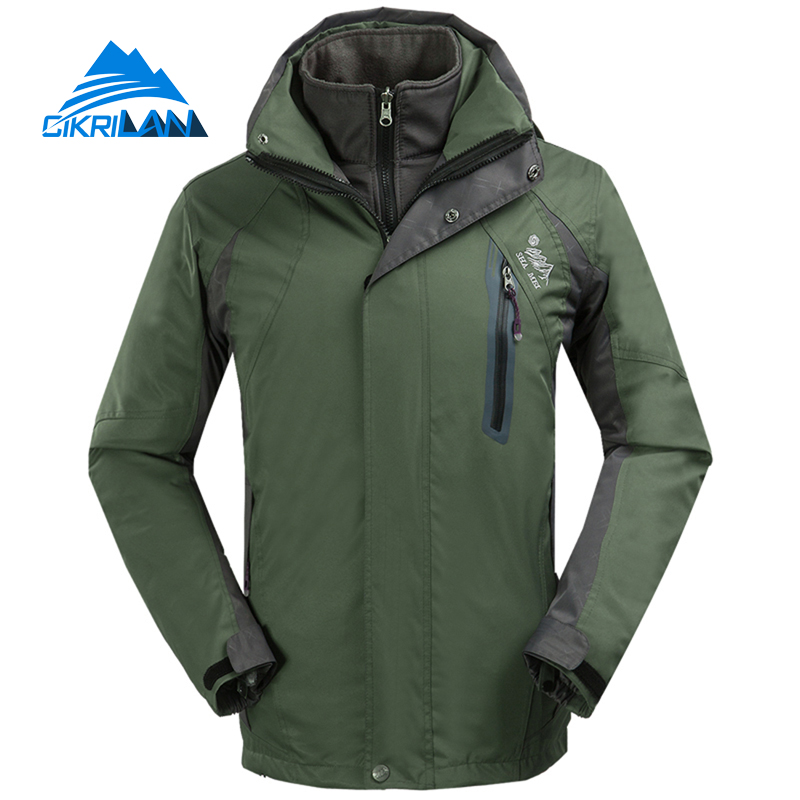 New Outdoor Sport Windbreaker Waterproof Jacket Men Hiking Camping Skiing Climbing Winter Coat Fleece Lining Jaqueta Masculino цены онлайн