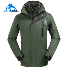 New Outdoor Sport Windbreaker Waterproof Jacket Men Hiking Camping Skiing Climbing Winter Coat Fleece Lining Jaqueta Masculino