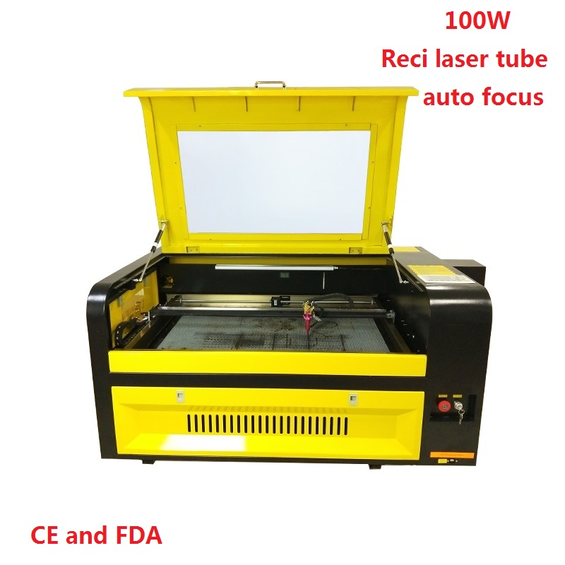 6090 100W Laser Engraving Machine 900*600mm Co2 Laser Cutting Machine With Up And Down Table 110V/220V USB Interface Free Ship