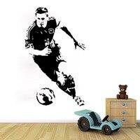 Personality 53 85 5cm Football Boy Man Bedroom Decorative Vinyl Wall Stickers Sports Play Game Art