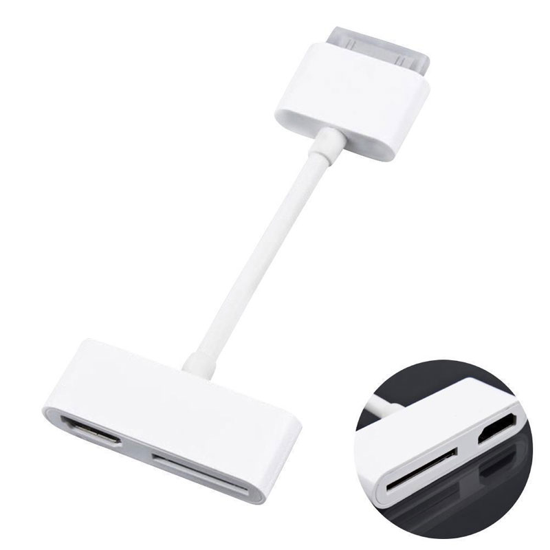 New Digital AV HDMI Adapter Cable Connector 30Pin Dock Connector to HDMI for iPhone 4 4s For iPad 2 3 For iPod For iPad Touch