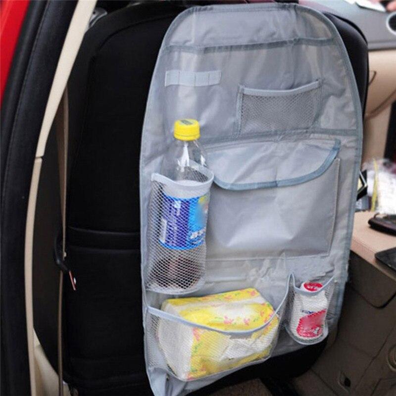 Black Car Auto Seat Cover Waterproof Seat Back Storage Organizer Protector Children Baby Kick Mat Mud Car-styling