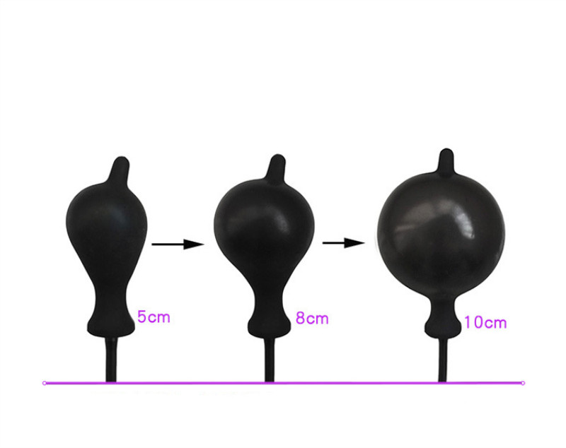 huge inflatable anal plug silicone anal Expansion butt plug dilator anal anus stimulate butt plug anal sex toys for Men in Anal Sex Toys from Beauty Health