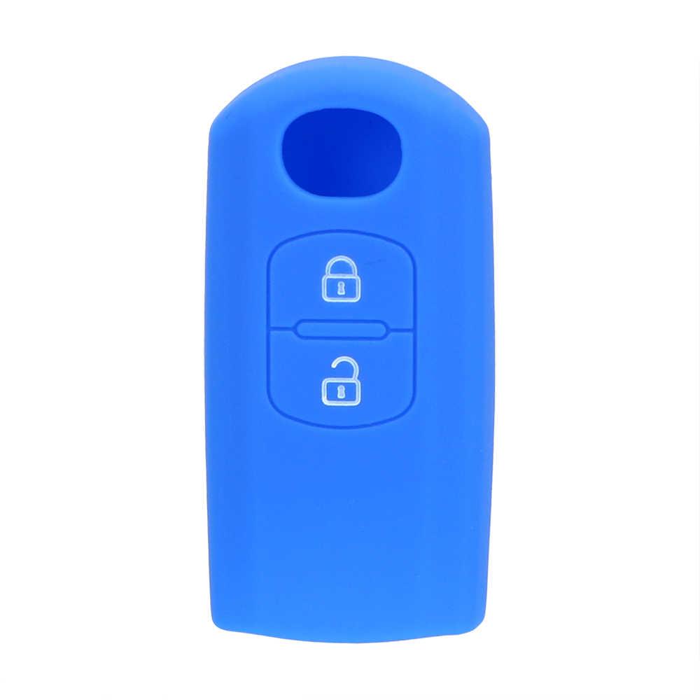 Télécommande Smart Fob Auto accessoires clé protéger sac voiture clé coque en silicone pour Mazda 6 Axela CX-5 Atenza CX-4 clé couverture 2 boutons