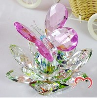 Crystal Lotus Butterfly, Creative Modern Crystal Crafts, Desktop Decoration, Beautiful Birthday Gifts