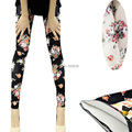 Hot sale Fashion Womens Lady Slim Sexy Cotton Floral Print Leggings Pants