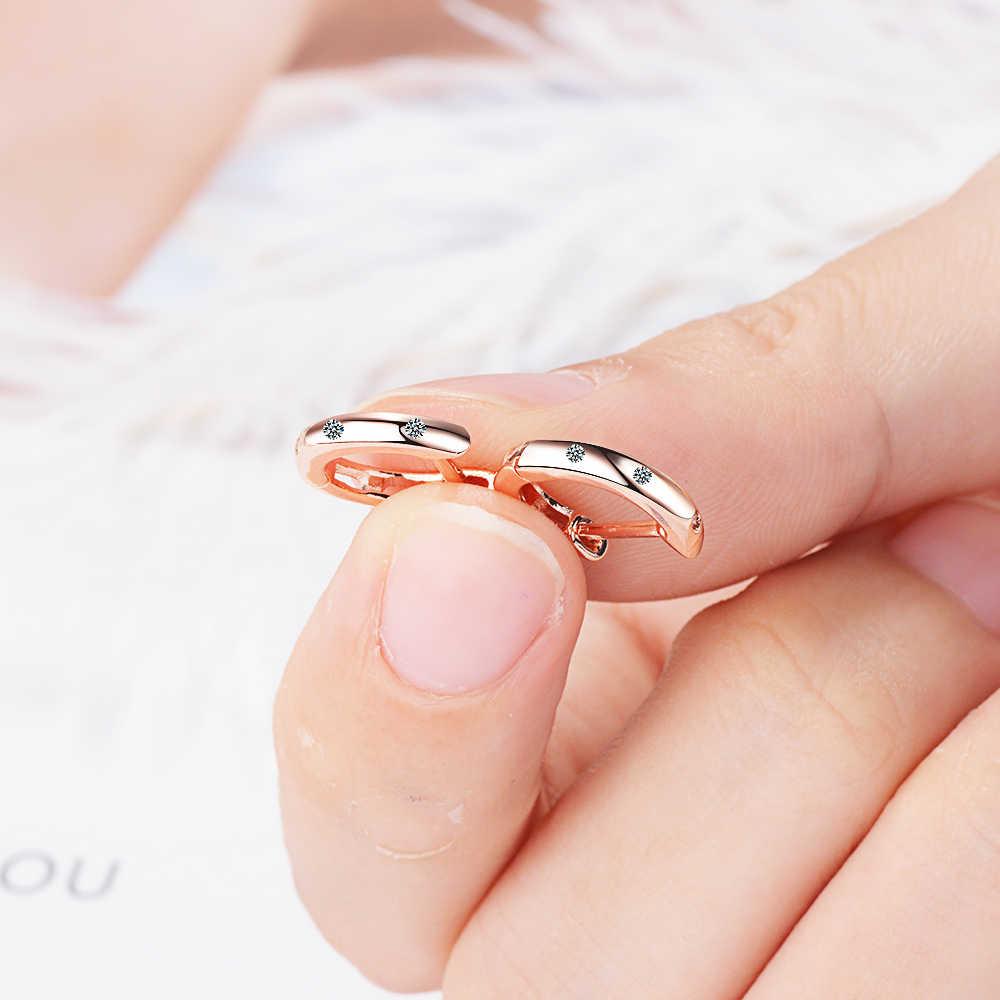 أقراط صغيرة من الفضة الإسترليني 925 بتصميم حقيقي متين أقراط دائرية صغيرة للرجال والنساء والأطفال والبنات مجوهرات للأطفال
