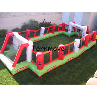 inflatable fun city,airtight inflatable football sport court,oxford soccer filed inflatable soap football pitch for kids