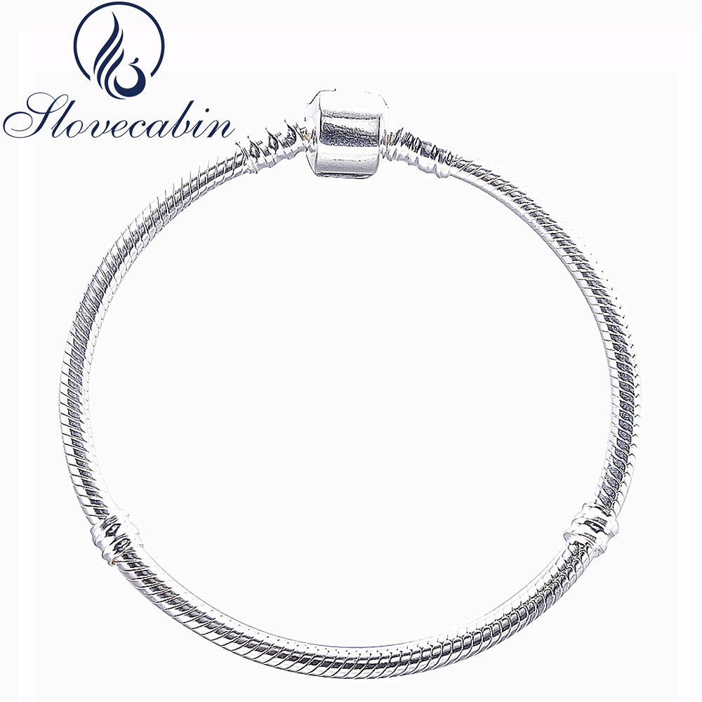 Slovecabin Original 925 Sterling Silver Bangle Bracelet Femme Cuff For Women Sterling-Silver-Jewelry Silver Bracelet Wholesale delicate silver cuff bracelet for women page 5