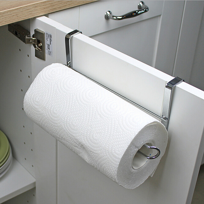 Stainless Steel Paper Towel Rack Toilet Roll Paper Holder Bathroom Storage Racks Kitchen Tissue