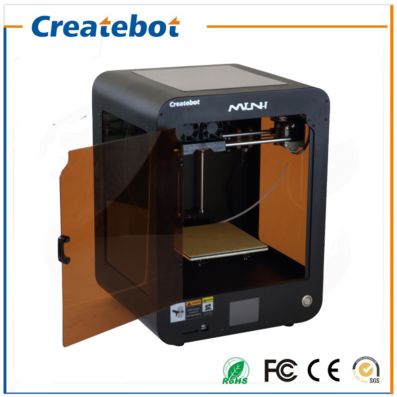FDM Createbot Mini 3D Printer Kit Touch Screen Dual Extruder 150*150*220mm 3D Printing Size With 1 Roll Filament 8GB SD Card