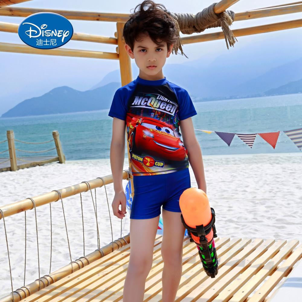 Disney Store Cars 3 Lightning McQueen Boy Swimsuit Race Car Trunks Swimwear NEw