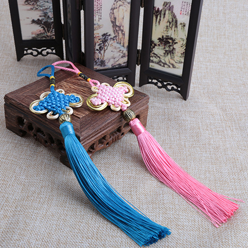 20 Pieces Lot Small Chinese Knot Tassel Pendant Red China National Wind Hanging Drop Chinese Characteristics Gift for Friends in Tassel Fringe from Home Garden