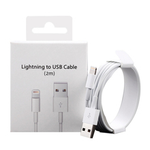 цена на BRENCIG USB Cable For Apple iPhone Cable X XS MAX XR 8 7 6 6S Plus Charging For iPhone Lightning Cable Charger Cord Data 1M 2M