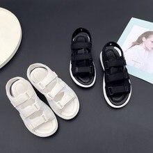 Большие размеры 9, 10, 11-14, летние сандалии на плоской подошве женская обувь на платформе, на танкетке, с толстой подошвой