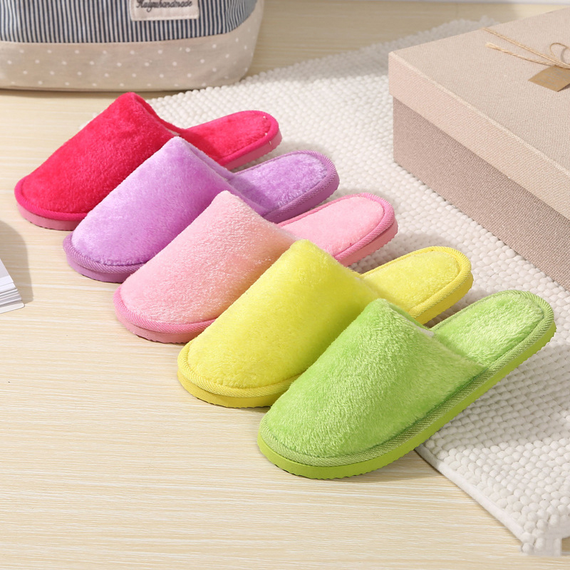 Slippers Shoes Women 2018 Soft Plush Slippers Indoor Floor Cotton Slippers Slip On Shoes Solid Anti-Skid Winter Warm waterproof ic card reader door access control system rs485 232 output