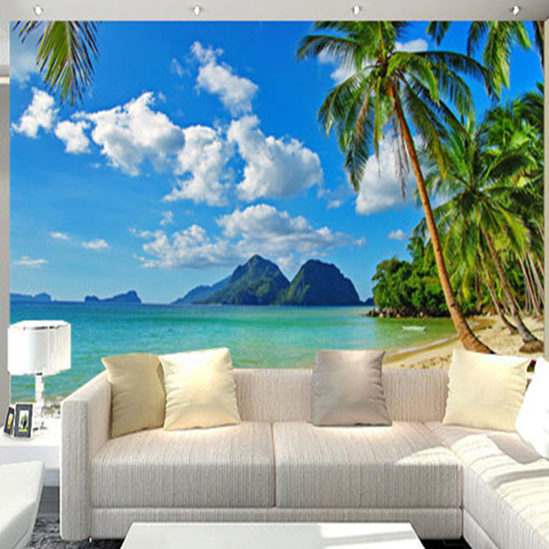 Buy custom mural 3d natural scene photo for Nature room wallpaper