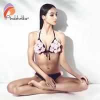 Andzhelika Bikini 2018 Summer Sexy Women Swimwear Floral Halter Swimwear Push Up Bikini Set Beach Bathing