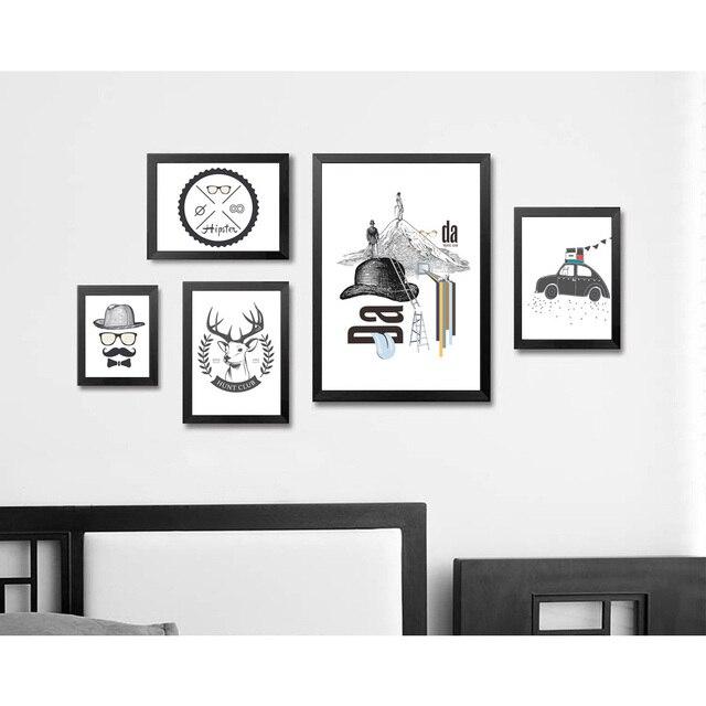 abstrakte minimalistischen kunst leinwand poster drucken moderne schwarz wei bild f r zuhause. Black Bedroom Furniture Sets. Home Design Ideas