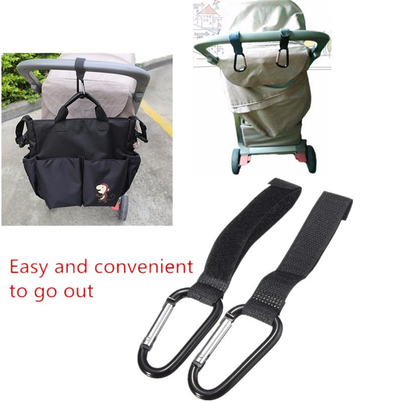 2018 2Pcs Universal Buggy Mummy Clips Pram Pushchair Shopping Bag Hooks Carabiner Cart Accessories For Baby Kids Childern