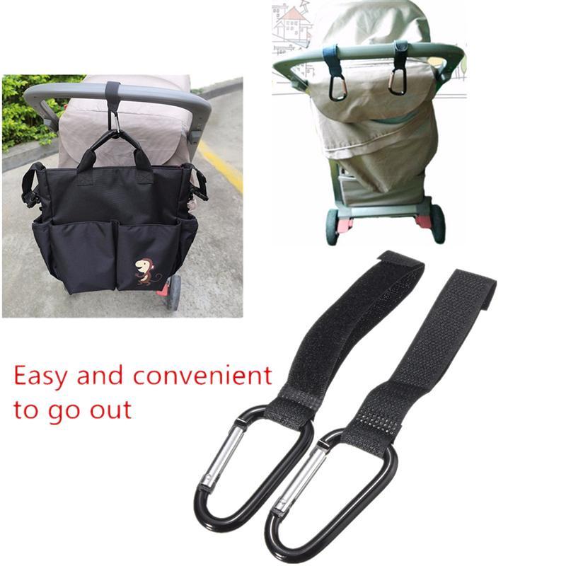 2018 2Pcs Universal Buggy Mummy Clips Pram Pushchair Shopping Bag Hooks Carabiner Cart Accessories For Baby Kids Childern
