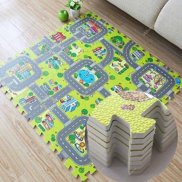 yazi Kids Carpet Puzzle Animal World Map Cartoon Child Foam Area ...