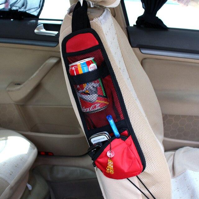 Kendaraan mobil Auto Kursi Side Kembali Storage Pocket Backseat Hanging Storage Bags Organizer Tahan Air Kain 38 cm * 12 cm