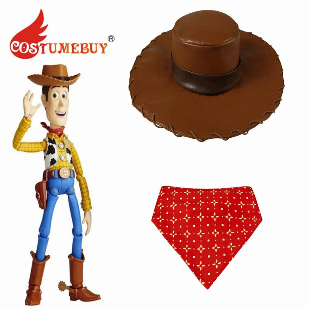 CostumeBuy Cartoon Anime Toy Story Woody Cosplay Hat Scarf Costume Woody  Hat Scarf Props L920