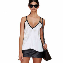 Women Chiffon Summer Vest Sleeveless V Neck Solid Tank Top White Blouse Summer Top Cami недорого