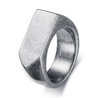 New Fashion 9mm Flat Top Arrow Design Retro Rings For Men Punk Stainless Steel Male Rings