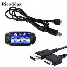 Cable cargador USB 2 en 1 para PSV Cable adaptador de alimentación de línea para Sony psv1000 PS Vita PSV 1000, sincronización y transferencia de datos